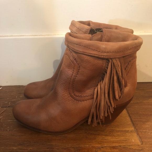 9f219aca7 Sam Edelman Louie Fringe Ankle Boots 8 Brown. M 5a655fc2d39ca22c0a08e17b
